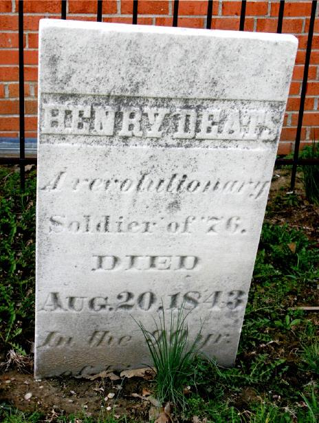 Gravestone of Revolutionary Soldier Henry Deats in LaBoyteaux-Cary Cemetery